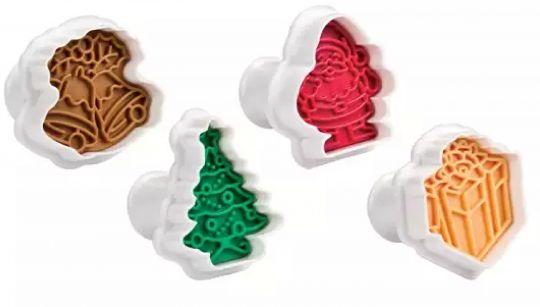 TESCOMA Формочки с печатью для печенья DELICIA 4 шт рождественские 630857