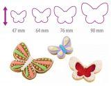 Двухсторонние формочки бабочка DELICIA, 4 размера 630871