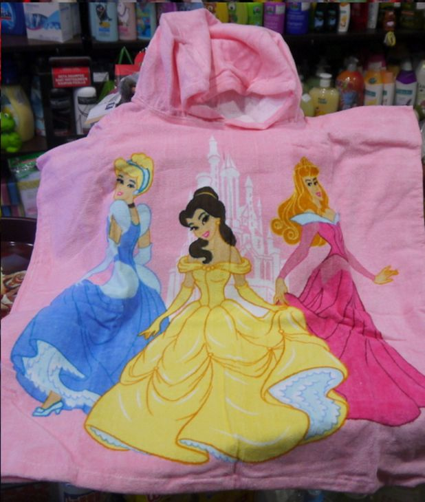 Детское полотенце с капюшоном Принцессы