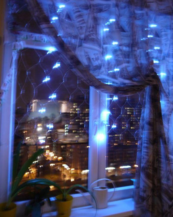 Гирлянда СЕТКА 160 лампочек 1,5х1,5 м